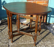 KT0299/ Gateleg Table ~ 1900, Eiche, EUR 320,-