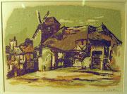 1737/ Holzschnitt, ~1960, sign. H.Kasten, Rahmen 54x45cm, EUR 30,-