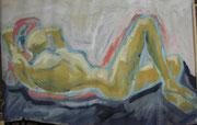 2490/ Akt, ~1982, Lorette Peltz unsigniert (Zertifikat), 100x67cm, EUR 120,-