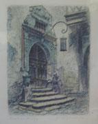 2403/ Farbradierung, ~1920, Rothenburg, sign. Fr.Görlitz, 27x34cm, EUR 25,-