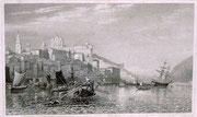 0678/ Stahlstich, ~1900, Oporto/Portugal, 30x20cm, stockfleckig, EUR 15,-