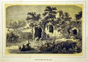 1154/ Druck aus Kunstbuch, ~1900, Egeria-Grotte bei Rom, C.Zimmermann X.A., Blatt 20x26cm, Stockflecken, EUR 15,-1154/