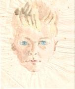 3026/ Jungenporträt, ~1940, Peter Kai unsign. (Zertifikat), 20x25cm, EUR 35,-