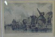 1972/ Stich, ~1920, Das Fleet hinter dem neuen Kran, 30x24cm, EUR 25,-