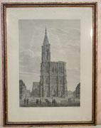 0298/ Stahlstich, ~1870, Straßburg, Dessine/Schnell, Rahmen 43x54cm, EUR 90,-