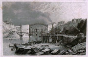 0680/ Stahlstich, ~1900, Sunderland in Durham/England, 30x20cm, stockfleckig, EUR 15,-