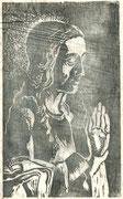 2239/ Holzschnitt, ~1960, P.Schadwinkel unsigniert, 20x29cm, EUR 20,-