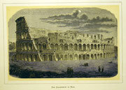 1147/ Druck aus Kunstbuch, ~1900, Colosseum in Rom, C.Zimmermann X.A., Blatt 20x26cm, Stockflecken, EUR 15,-