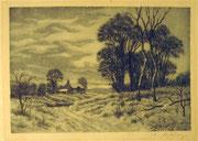 2934/ Radierung, ~1900, sign. A.Hartung, 27x20cm, fleckiger Rand, EUR 35,-