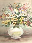 2228/ Blumen, ~1960, P.Schadwinkel unsign. (Zertifikat), 25x29cm, EUR 25,-