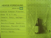 3209 Siebdruck, 1973, Heintje-Forschung, sign. Dieter Glasmacher, 65x49cm, Wasserflecke links, EUR 75,-
