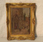"""4126/ Öl/Pappe. 1930, sign. """"E.Schmidt, Sevilla"""", Rahmen: H 31, B 24cm, EUR 160,-"""