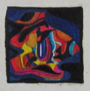 2475/ Acryl/Pappe, ~ 1980, Schadwinkel unsign. (Zertifikat), Motiv 9x8cm, EUR 40,-