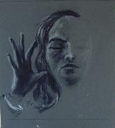 2313/ Bleistift, Pergamentpapier, 1986, sign. P. Schadwinkel,  32x42cm, EUR 30,-