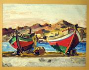 1113/ Öl/Pappe ~1950, unsign., 29x39cm, EUR 35,-