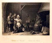 1215/ Stich nach Palamedes,  ~1900, W.French, 18x22cm, EUR 20,-