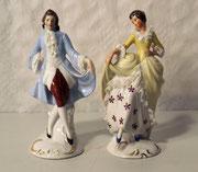3873/ Figurenpaar ~1900, Porzellan, Marke, H 13cm, EUR 69,-