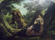 3270/ Öl/Holz, 1848, sign. Camille Roqueplan, Rahmen 41x35cm, EUR 800,-