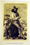 1168/ Druck aus Kunstbuch, ~1900, Tracht aus Vignerole, C.Zimmermann X.A., Blatt 26x20cm, Stockflecken, EUR 15,-