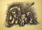 1117/ Litho, ~1965, unleserlich signiert, 35x48cm, EUR 45,-