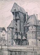0707/ Tusche, ~1905, Danzig, sign. Hermann Kipp, 19x25cm, EUR 35,-