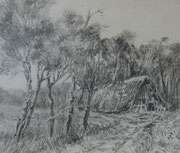 2292/ Bleistift, ~1970,  Peter Schadwinkel unsign. (Zertifikat), 32x24cm, EUR 20,-