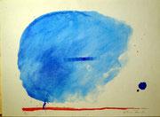 1195/ Acryl/Pappe, ~1990, Dietmar Dänecke, Din A1, EUR 80,-