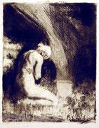 1124/ Radierung, 1896, sign. A.J.Becker-Gundahl, Blatt 56x45cm, EUR 90,-