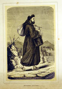 1149/ Druck aus Kunstbuch, ~1900, Capuciner in Rom, C.Zimmermann X.A., Blatt 26x20cm, Stockflecken, EUR 15,-