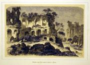 1160/ Druck aus Kunstbuch, ~1900, Kaiserpaläste in Rom, C.Zimmermann X.A., Blatt 20x26cm, Stockflecken, EUR 15,-