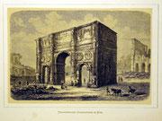 1157/ Druck aus Kunstbuch, ~1900, Constantinsbogen in Rom, C.Zimmermann X.A., Blatt 20x26cm, Stockflecken, EUR 15,-