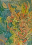 2350/ Farbholzschnitt, ~1965, Sign. unter weißer Farbe, 45x60cm, EUR 25,-