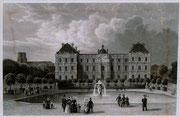 0693/ Stahlstich, ~1900, Palais Luxembourg bei Paris/Frankreich, 30x20cm, stockfleckig, EUR 15,-