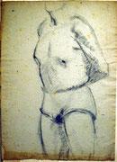 1180/ Kohle, ~1945, p.Kai unsign. (Zertifikat), Motiv 44x31cm, EUR 35,-