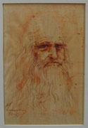 2467/ Rötel, ~1970, Leonardo da Vinci, P.Schadwinkel unsign. (Zertifikat), 15x22cm, EUR 35,-