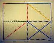 3000/ Siebdruck, 1973, Blattvermessung, sign. Dieter Glasmacher, Rahmen 71x57cm, EUR 150,-