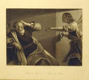1219/ Stich nach Honthorst, ~1900, Petrus im Kerker, W.French, 17x20cm, EUR 20,-