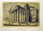 1155/ Druck aus Kunstbuch, ~1900, Pantheon in Rom, C.Zimmermann X.A., Blatt 20x26cm, Stockflecken, EUR 15,-
