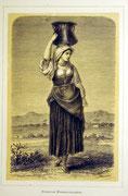 1162/ Druck aus Kunstbuch, ~1900, Wasserträgerin in Rom, C.Zimmermann X.A., Blatt 26x20cm, Stockflecken, EUR 15,-