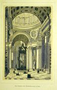 1164/ Druck aus Kunstbuch, ~1900, Peterskirche in Rom, C.Zimmermann X.A., Blatt 26x20cm, Stockflecken, EUR 15,-