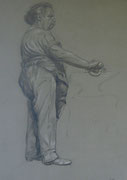 2339/ Bleistift, ~1905, sign. H.Kipp, 33x47cm, EUR 75,-