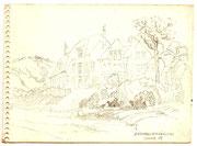 2226/ Bleistift, 1977, Strömstad, P.Schadwinkel unsign. (Zertifikat), 19x14cm, EUR 25,-