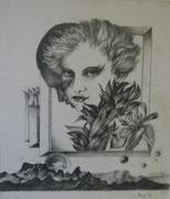 2368/ Bleistift, 1986, sign. P.Schadw., 31x37cm, EUR 45,-