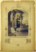1221/ Stich nach Daguerreotypie, ~1890, Mr. Buckstone as Lancelot Gobbo, 24x18cm, Defekter Rand, Stockflecken, EUR 10,-