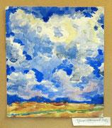 2295/ Wolken, 1920, sign. Theo Dames, Motiv 17x14cm, EUR 45,-