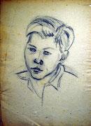 1181/ Kohle, ~1945, P.Kai unsign. (Zertifikat), Motiv 44x31cm, EUR 25,-