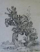 2359/ Bleistift, 1985, sign. P.Schadw., 33x42cm, EUR 45,-