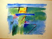 1194/ Acryl/Pappe, ~1990, Dietmar Dänecke, Din A1, EUR 120,-