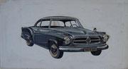 2352/ Plakatstudie, ~1960, Borgward, P.Schadwinkel, 37x18cm, EUR 30,-