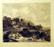 1201/ Radierung ~1900, nach van Ruisdael, Grenx/Lienard, 28x34cm, EUR 25,-